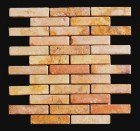 "MD-28 BRICK JOINT MESH PEACH 4"" X 1"""