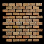 "MD-35 BRICK JOINT MESH  PEACH TUMBLED 2"" X 1"""