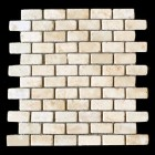 "MD-37 BRICK JOINT MESH  DESERT GOLD TUMBLED 2"" X 1"""
