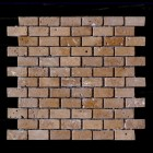 "MD-57 BRICK JOINT MESH  CHOCO TUMBLED 2"" X 1"""